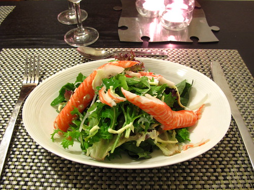 Crab & green salad