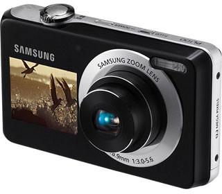 Samsung - Câmera Digital - PL100 - 12.4 Megapixels - Duplo LCD - LCD Frontal (4 GB + Capa)