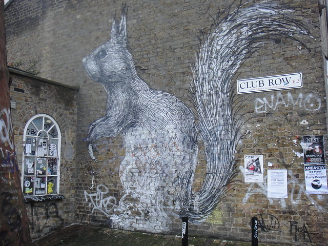 Roa, the Belgian artist street art in London