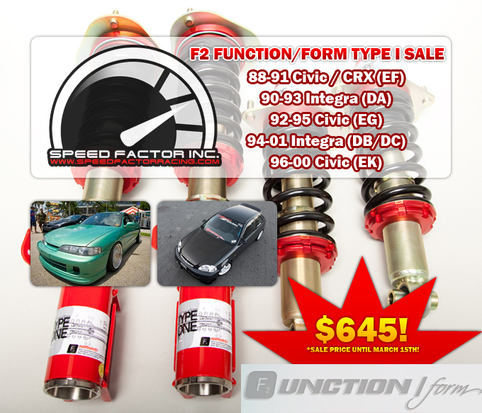 F2 Function Form Coilovers