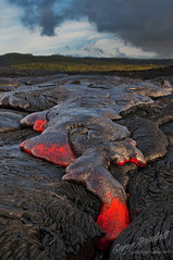 Viscous Mass of Red Hot Rock (Gary Randall) Tags: kalapana volcano hawaii lava kilauea puna mikeandmel garyrandall dsc11622 mikemelwed