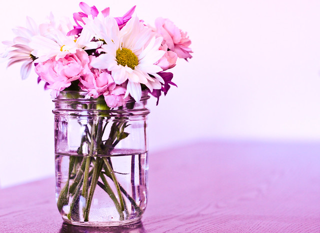 flowers in a mason jar 1