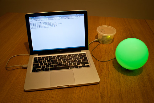 Green orb with Arduino