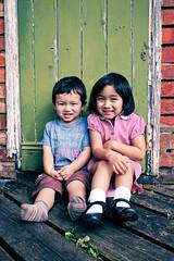 Dynamic Duo (cautious_boy) Tags: school autumn pose uniform ethan
