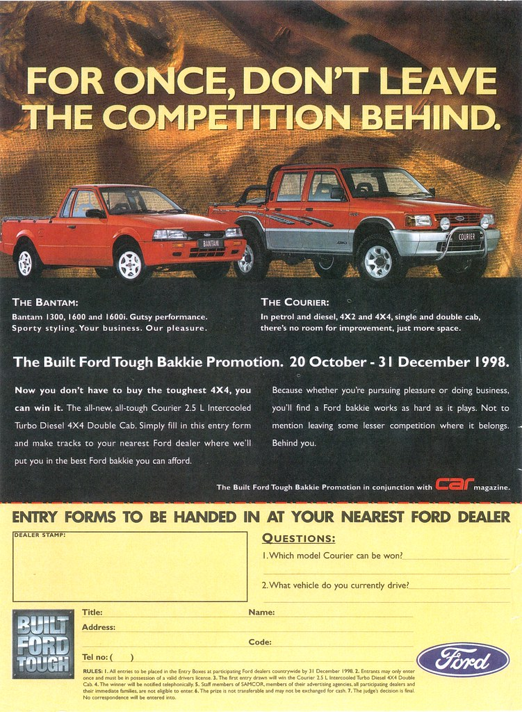 1998 Ford Bantam & Courier (South Africa)