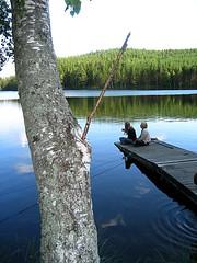 Summer in Sweden (Ankar60) Tags: bridge summer lake tree sweden jetty swedish småland sverige träd svensk sommar brygga smörgåsbord sjö vimmerby försjön