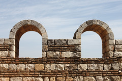 Windows in Anjar (Eusebius@Commons) Tags: lebanon window stone ruins day cloudy umayyad anjar