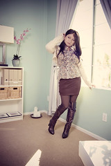 brown monday (bethantics) Tags: wardroberemix whatiworetoday todaysoutfit overthekneeboots brownopaquetights