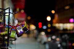 Chinatown Bokeh (andreaskoeberl) Tags: sanfrancisco california street colors night 35mm nikon chinatown dof nightshot bokeh streetphotography depthoffield cablecar f18 35mmf18 d7000 nikond7000 andreaskoeberl