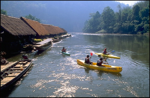 Kayaking on the River Kwai, Thailand