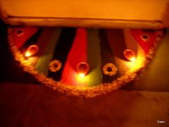 Rangoli with diyas (Esani (Nibedita)) Tags: flowers india flower colour festival paint interiors traffic deep celebrations rush sweets decor hindu hinduism festivities decorate trafficja