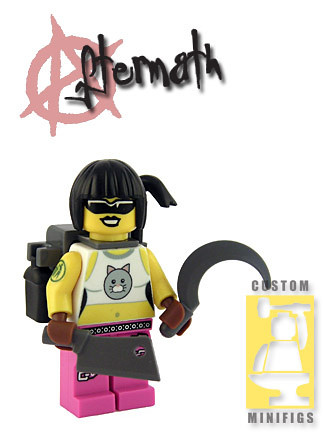 Custom minifig Ms. Kitty custom minifig