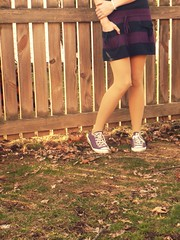 nice.to.see.you.grass. (Digital CLR) Tags: fence pose legs tint converse crop tones chucks