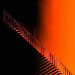 An Ode to Halloween (FlipMode79) Tags: orange abstract color halloween lines stairs photography shadows dcist hcs flipmode79