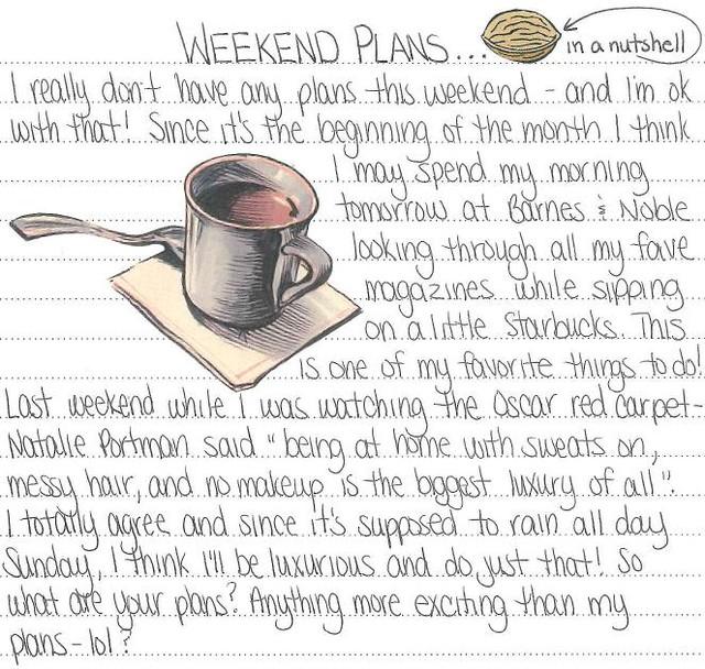 Weekend Plans 3.4.11