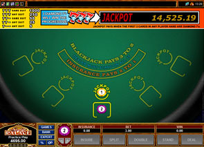 Triple Sevens Progressive Blackjack game