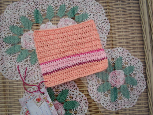 Rona (Netherlands) Your Square arrived today! Thank You! No. 36 'Pink Stripes'. Jan Eaton.