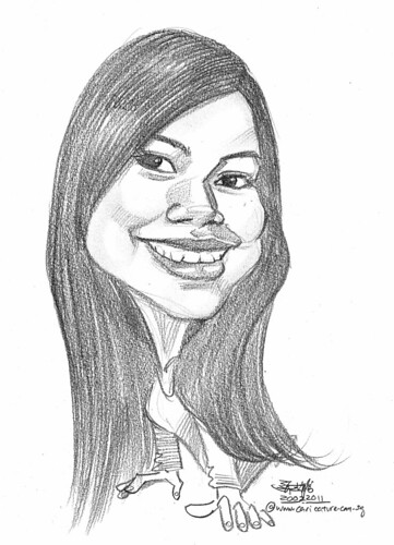 lady caricature in pencil 20022011