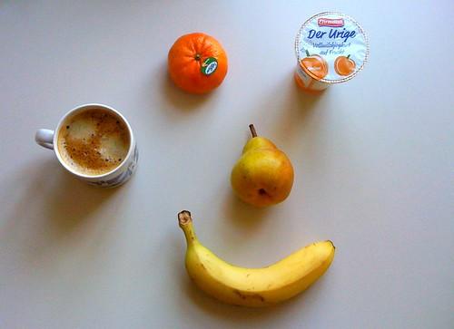 Der Urige, Clementine, Banane & Birne