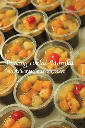 Puding coklat & Fruit cocktail