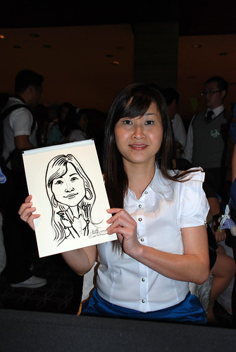 Caricature live sketching for Swire Pacific Offshore & The China Navigation Company Pte Ltd Annual D&D - 9