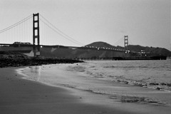 pretty girl (cindyloughridge) Tags: film 35mm nikonf100 goldengatebridge thebridge fujineopan400 sigma50mmf14