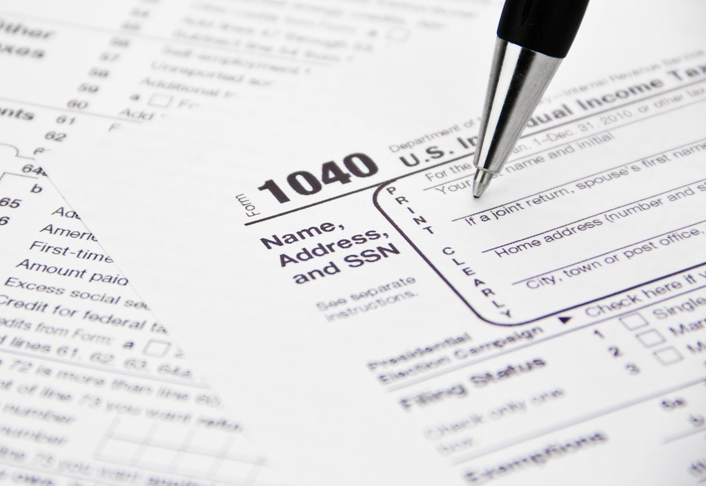 IRS 1040 Tax Form Being Filled Out by kenteegardin, on Flickr