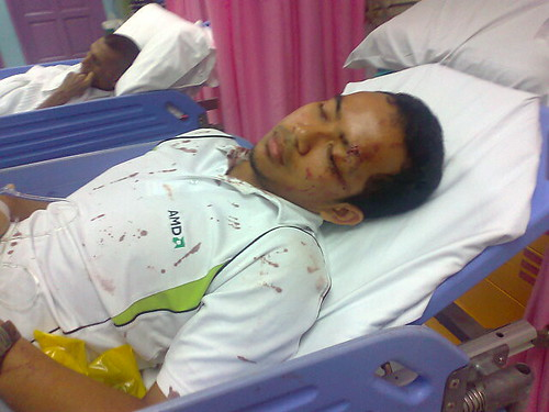Hazwan Arif terlantar di hospital