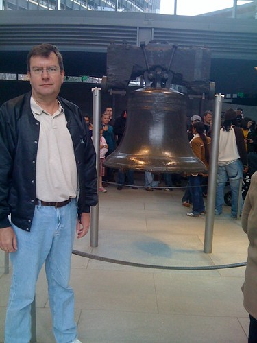 Noel F. Williams visiting the Liberty Bell in Philadelphia