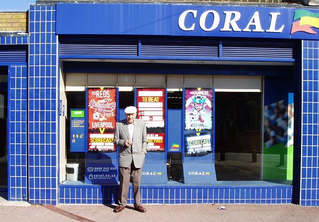 Dad outside Joe Corals