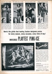 Invisible Playtex Pink-Ice latex girdle 1950 (Nesster) Tags: vintage magazine print fifties invisible ad advertisement advert latex 1950 photoplay girdle playtex pinkice