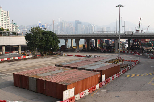 MTR freight yard at Hung Hom