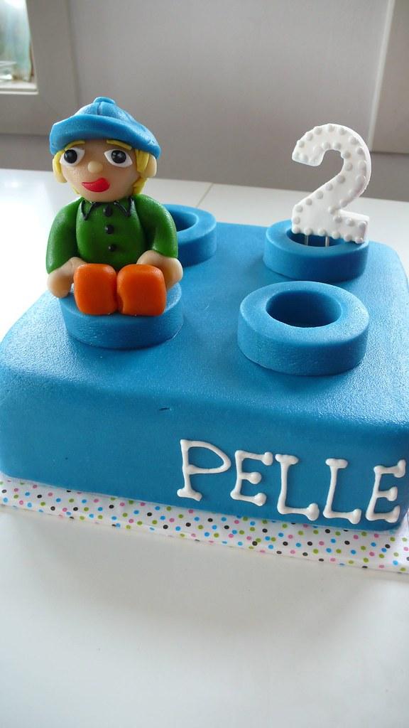 DUPLO block cake for twin boys - PELLE