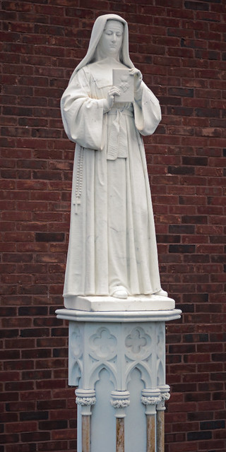 Statue of Saint Margaret Mary Alacoque, at the Saint Louis University medical campus, in Saint Louis, Missouri, USA