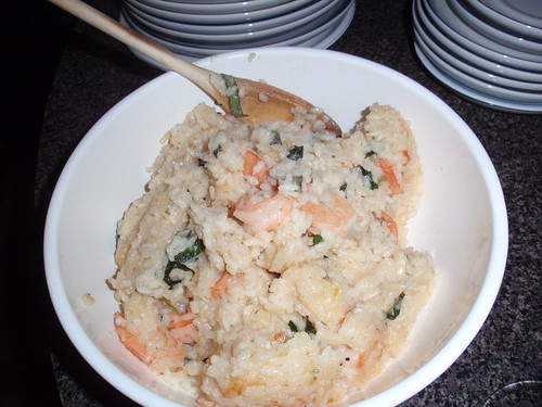 Ming Tsai's Shrimp Risotto with Basil