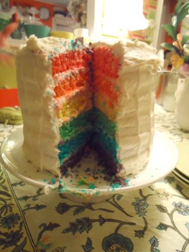 Olivia's rainbow cake
