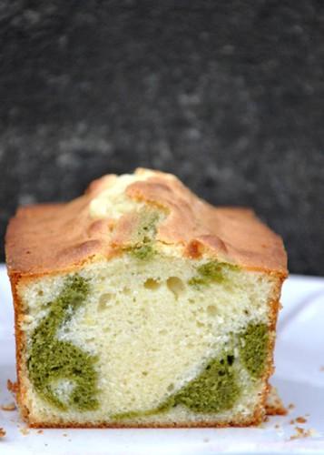 matcha + white choc cake