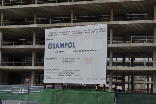 Hotel en construcción en la T2 de Madrid-Barajas