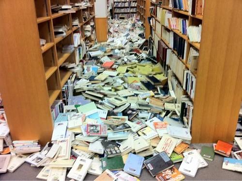 Japan Library Earthquake Damage2