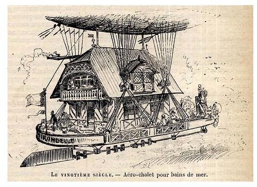 005-Chalet aereo para baños de mar-Le Vingtième Siècle 1883- Albert Robida
