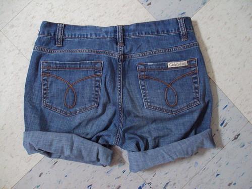 Calvin Klein Cutoffs (back)