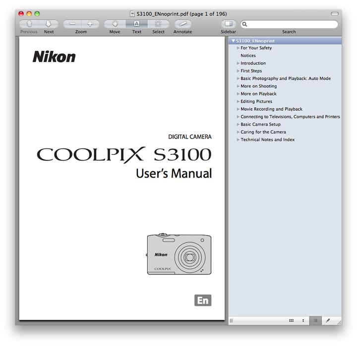 Nikon S3100 Manual