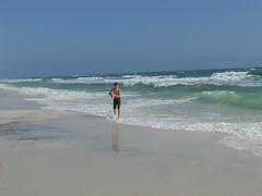 Playing Ball at WaterColor Beach