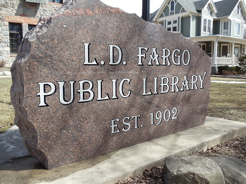 Library's Front Sign