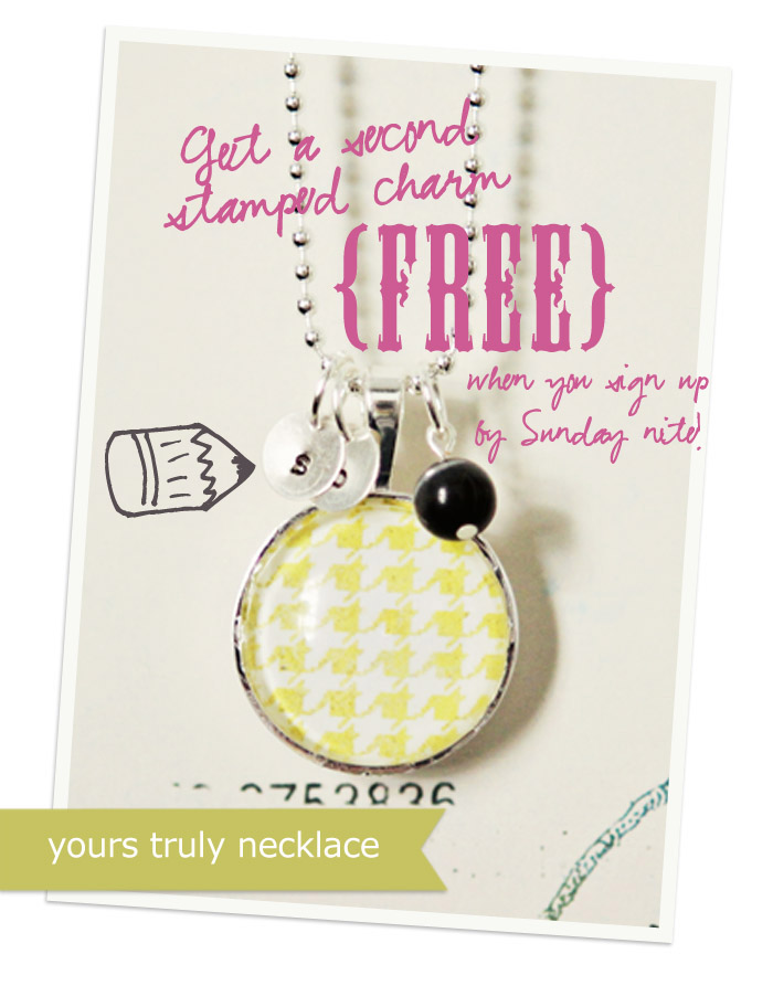 one necklace free charm