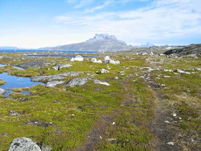 Fjell utenfor Nuuk, foto: Anne C. Silviken
