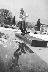 IMG_9202 (Chris Meium Photography) Tags: chris portrait blackandwhite bw snow reflection texture water minnesota canon photography spring melting skateboarding central tricks skatepark skateboard 50 mn grind willmar 50d meium chrismeiumphotography wwwchrismeiumphotographycom