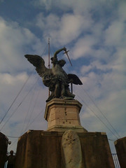 (Lisa Katherine Lenore Brown) Tags: sky rome statue angel clouds europe sword itatly