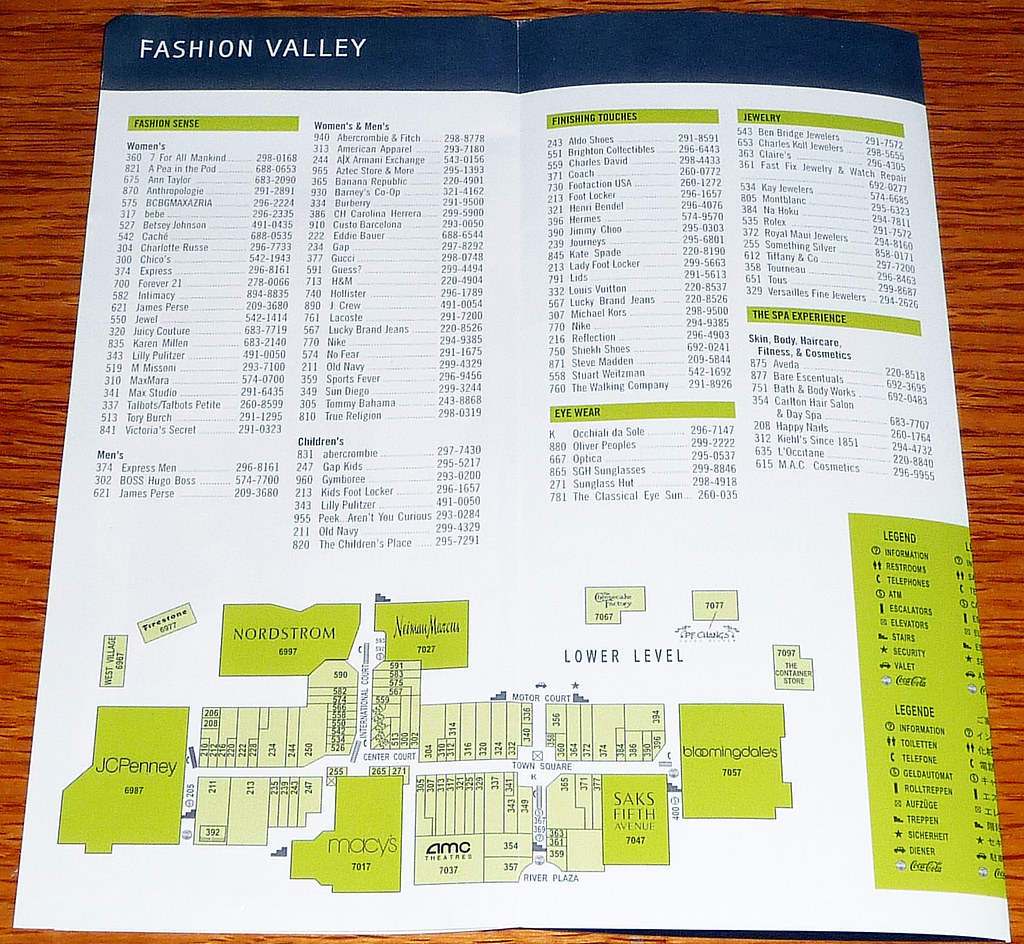 Fashion Valley Mall San Diego Map.The World S Best Photos Of Mall And Pamphlet Flickr Hive Mind
