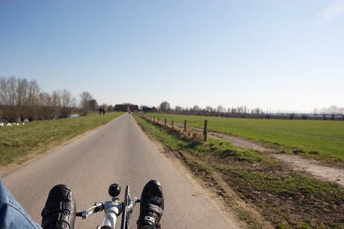 Cycling near Deventer - View from my bike